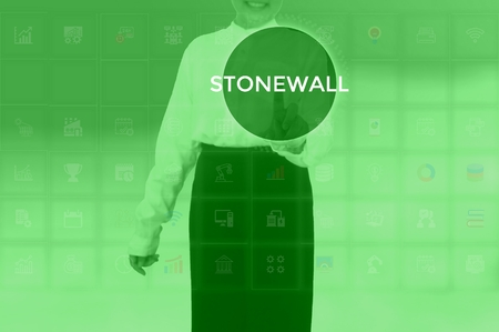 STONEWALL - technology and business concept Stock Photo