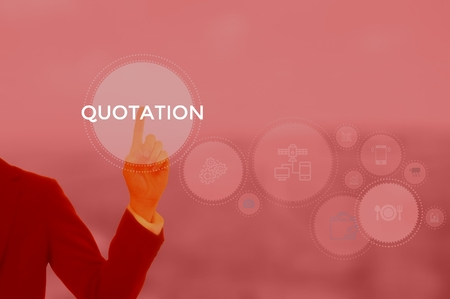 QUOTATION - technology and business concept