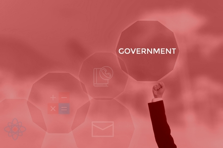 GOVERNMENT - technology and business concept Stok Fotoğraf