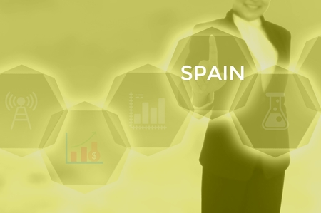 SPAIN - technology and business concept Фото со стока