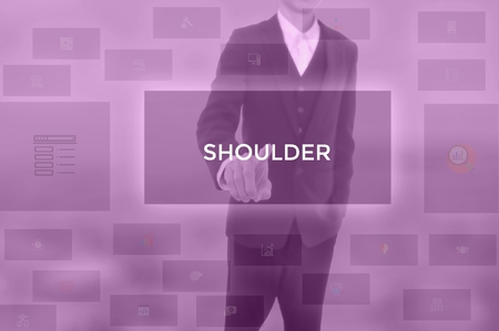 SHOULDER - technology and business concept Banque d'images - 119569423