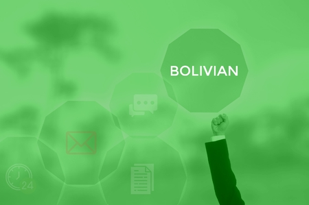 select BOLIVIAN - technology and business concept