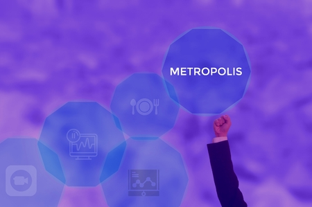 METROPOLIS - technology and business concept Stock Photo