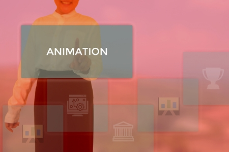 select ANIMATION - technology and business concept