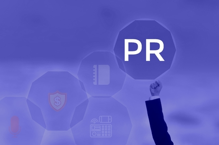 Page Ranking, Public Relations or Press Release - business concept
