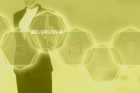 select BELORUSSIA - technology and business concept