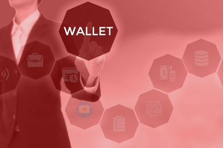 WALLET - technology and business concept