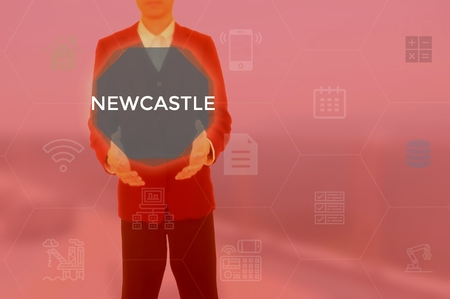 NEWCASTLE - technology and business concept Stock Photo - 119614092
