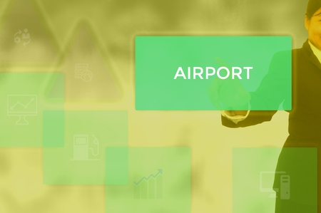 select AIRPORT - technology and business concept