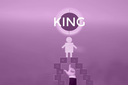 KING - technology and business concept