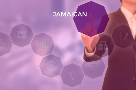 JAMAICAN - technology and business concept Stock Photo