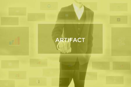 select ARTIFACT - technology and business concept Фото со стока