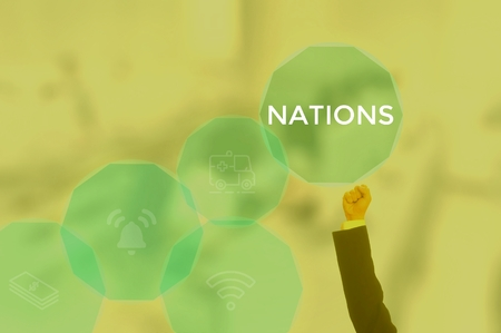 NATIONS - technology and business concept