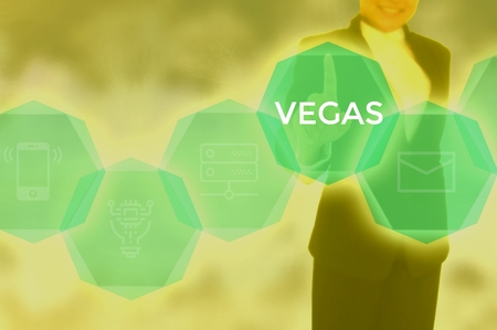 VEGAS - technology and business concept Stock Photo