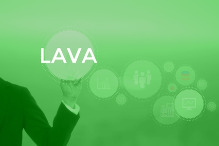 LAVA - technology and business concept Stock Photo