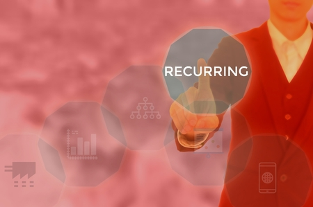 RECURRING - technology and business concept