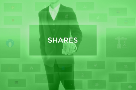 SHARES - technology and business concept Stock Photo