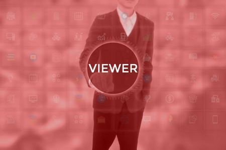 VIEWER - technology and business concept Reklamní fotografie