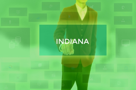 INDIANA - technology and business concept