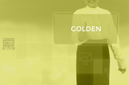 GOLDEN - technology and business concept Stock Photo - 119714832