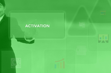 select ACTIVATION - technology and business concept
