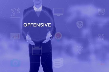 OFFENSIVE - technology and business concept Stock Photo