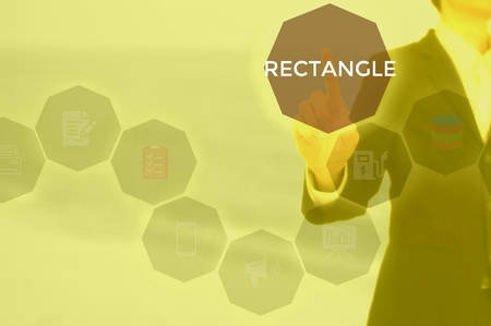 RECTANGLE - technology and business concept