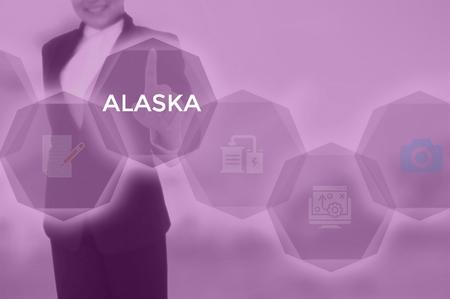 select ALASKA - technology and business concept