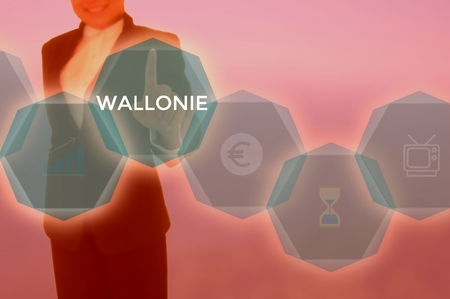 WALLONIE - technology and business concept Stock Photo