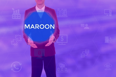 MAROON - technology and business concept