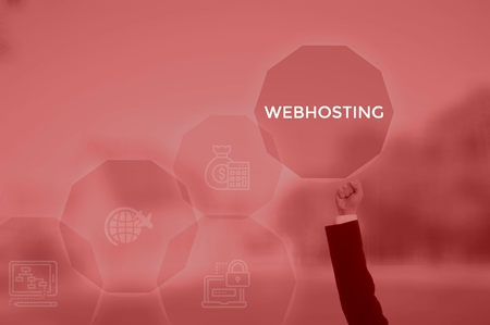 WEBHOSTING - technology and business concept