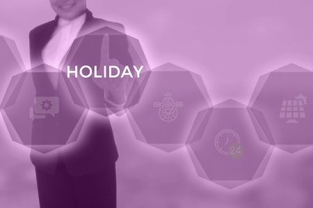 HOLIDAY - technology and business concept