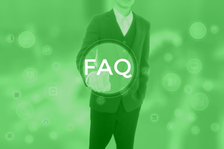 Frequently Asked Questions - business concept 写真素材