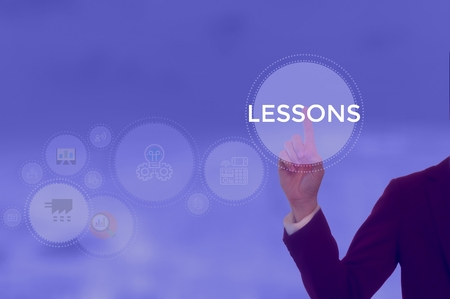 LESSONS - technology and business concept Stock Photo