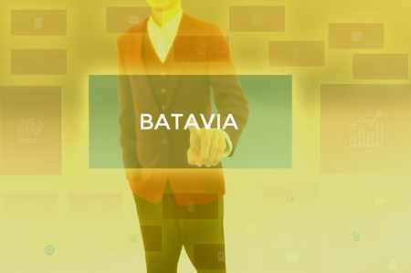 select BATAVIA - technology and business concept