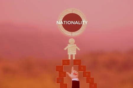 NATIONALITY - technology and business concept 스톡 콘텐츠