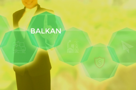 select BALKAN - technology and business concept Stock Photo