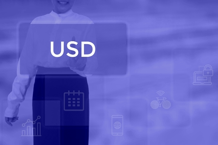 us dollar currency   - business concept Stok Fotoğraf