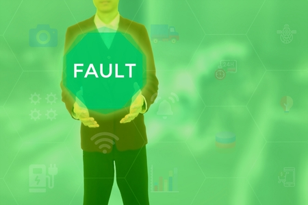 FAULT - technology and business concept Imagens