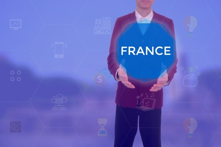 FRANCE - technology and business concept Archivio Fotografico - 120142270