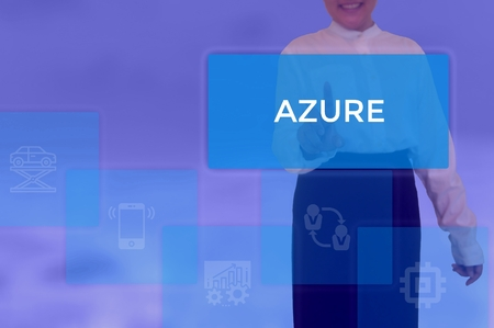 select AZURE - technology and business concept