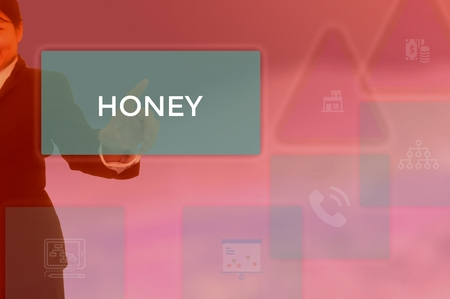 HONEY - technology and business concept