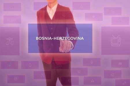 select BOSNIA-HERZEGOVINA - technology and business concept Stock Photo