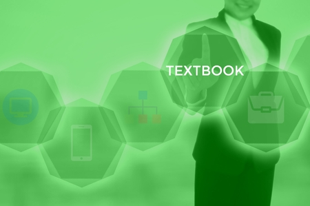 TEXTBOOK - technology and business concept Imagens