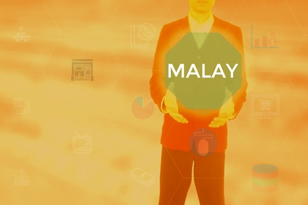 MALAY - technology and business concept Stock Photo - 120154144