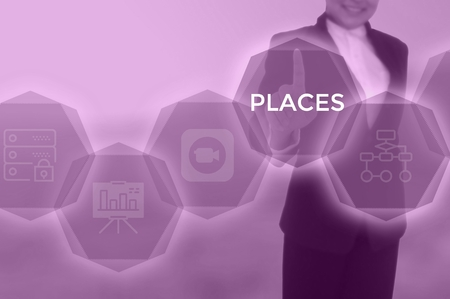 PLACES - technology and business concept