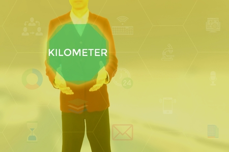 KILOMETER - technology and business concept