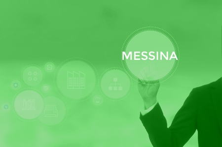 MESSINA - technology and business concept Stock Photo