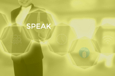 SPEAK - technology and business concept