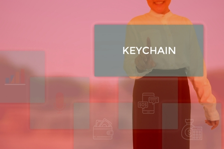 KEYCHAIN - technology and business concept